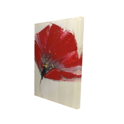 Canvas 24 x 36 - 3D - Two red flowers