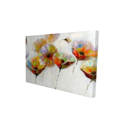 Canvas 24 x 36 - 3D - Color dotted flowers