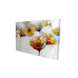 Canvas 24 x 36 - 3D - Color spotted flowers
