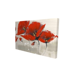 Canvas 24 x 36 - 3D - Red flowers with an handwritten typo