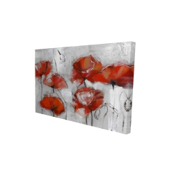 Canvas 24 x 36 - 3D - Abstract poppies