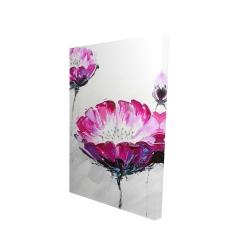 Canvas 24 x 36 - 3D - Pink wild flowers