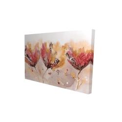 Canvas 24 x 36 - 3D - Four little flowers