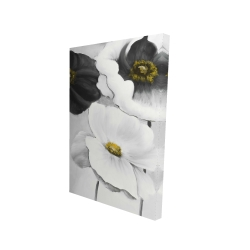 Canvas 24 x 36 - 3D - Assorted white flowers