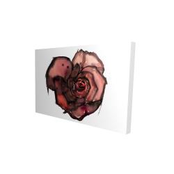 Canvas 24 x 36 - 3D - Dark rose