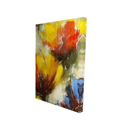 Canvas 24 x 36 - 3D - Texturized yellow flowers