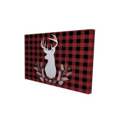 Canvas 24 x 36 - 3D - Deer plaid