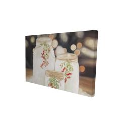 Canvas 24 x 36 - 3D - Christmas candles