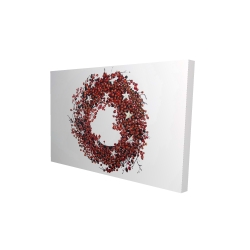 Canvas 24 x 36 - 3D - Red berry wreath