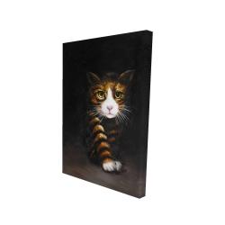 Canvas 24 x 36 - 3D - Discreet cat