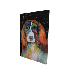 Canvas 24 x 36 - 3D - Colorful dog