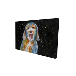 Canvas 24 x 36 - 3D - Abstract labradoodle