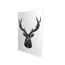 Canvas 24 x 36 - 3D - Geometric deer head