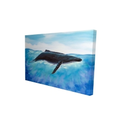 Canvas 24 x 36 - 3D - Blue whale
