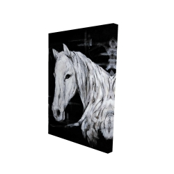Canvas 24 x 36 - 3D - Abstract horse profile view
