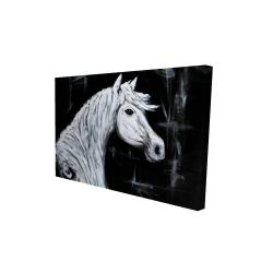 Canvas 24 x 36 - 3D - Horse profile view
