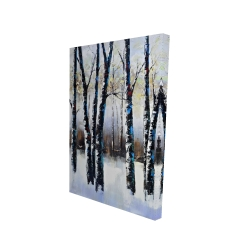 Canvas 24 x 36 - 3D - Frosted trees