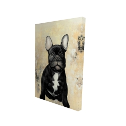Canvas 24 x 36 - 3D - French bulldog