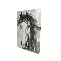Canvas 24 x 36 - 3D - Beautiful wild horse