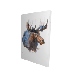 Canvas 24 x 36 - 3D - Abstract blue moose