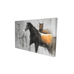 Canvas 24 x 36 - 3D - Abstract herd of horses