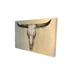 Canvas 24 x 36 - 3D - Bull skull