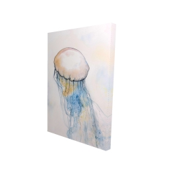 Canvas 24 x 36 - 3D - Watercolor jellyfish