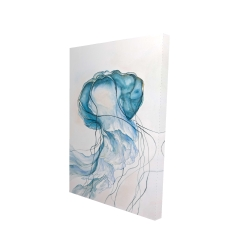 Canvas 24 x 36 - 3D - Jellyfish moving