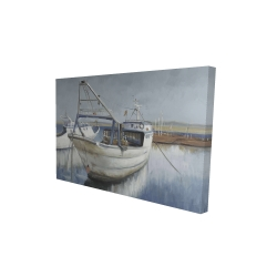 Canvas 24 x 36 - 3D - Blue fishing boat