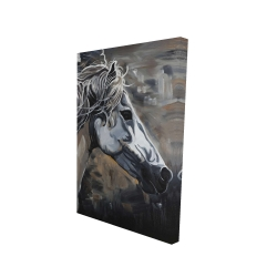 Canvas 24 x 36 - 3D - Side of a wild horse
