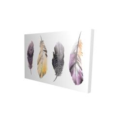 Canvas 24 x 36 - 3D - Bohemian feather set