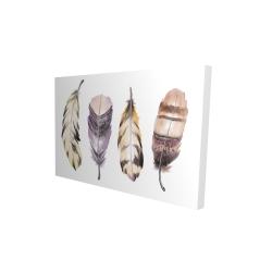 Canvas 24 x 36 - 3D - Purple feather set
