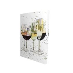 Canvas 24 x 36 - 3D - Beautiful wine glasses