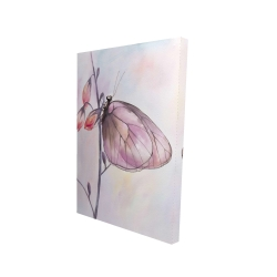 Canvas 24 x 36 - 3D - Delicate butterfly