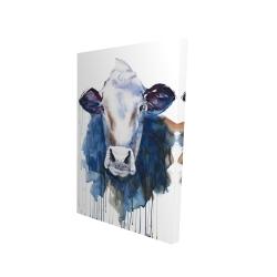 Canvas 24 x 36 - 3D - Watercolor cow