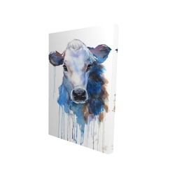 Canvas 24 x 36 - 3D - Watercolor jersey cow