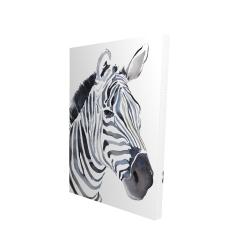 Canvas 24 x 36 - 3D - Watercolor zebra
