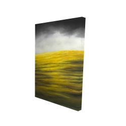 Canvas 24 x 36 - 3D - Yellow hill