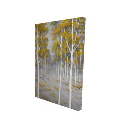 Canvas 24 x 36 - 3D - Birch forest