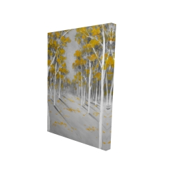 Canvas 24 x 36 - 3D - Yellow birch forest