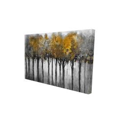 Canvas 24 x 36 - 3D - Illuminated forest