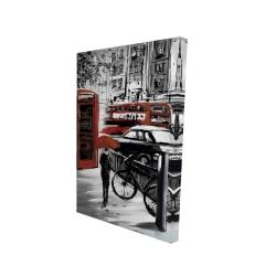 Canvas 24 x 36 - 3D - European street