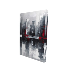Canvas 24 x 36 - 3D - Abstract cityscape