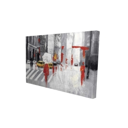 Canvas 24 x 36 - 3D - Abstract cloudy city street