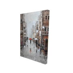 Canvas 24 x 36 - 3D - City rain