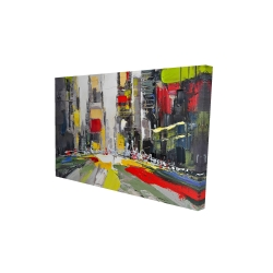 Canvas 24 x 36 - 3D - Abstract texturized cityscape