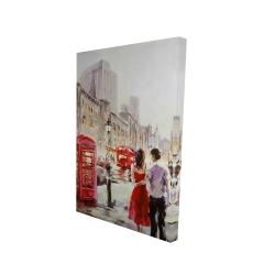 Canvas 24 x 36 - 3D - Couple walking