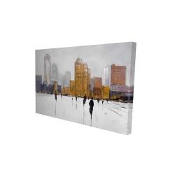 Canvas 24 x 36 - 3D - City on the horizon