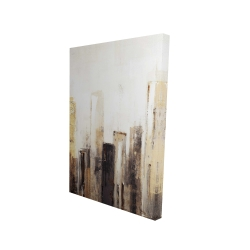 Canvas 24 x 36 - 3D - Earthy tones city