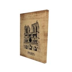 Canvas 24 x 36 - 3D - Notre-dame de paris illustration